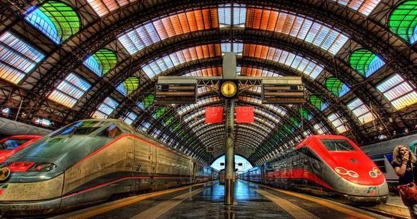 Touring Norditalien med tog