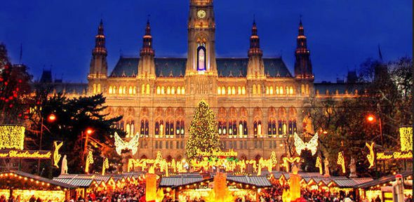 city views in Christmas Markets by Train