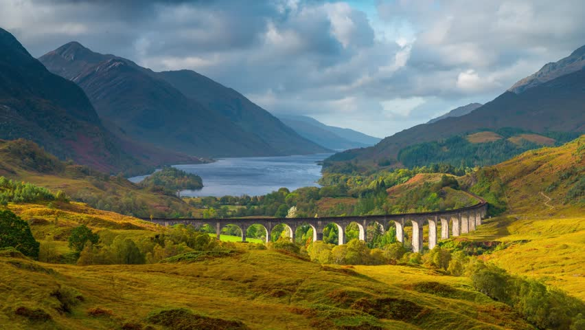 The west highland scotland train route views