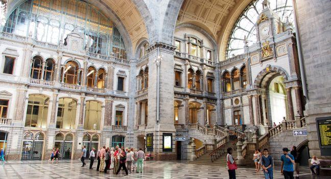 Belgium Antwerp beautiful railway stations