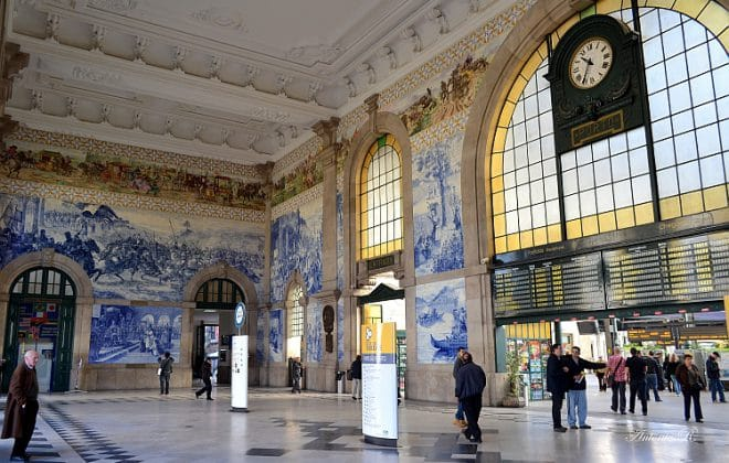 Porto, Portugal railway beautiful railway stations