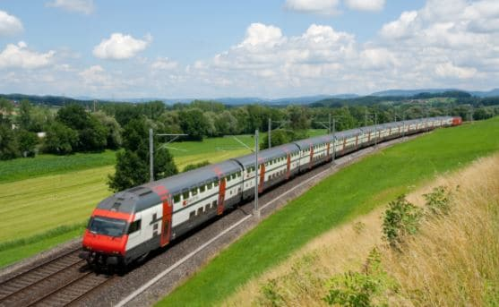 traveling by train in Europe image