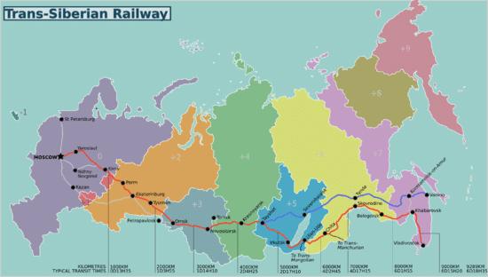 מסעות הרכבת הארוך ביותר בעולם