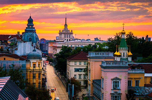 Bulgaria skyline