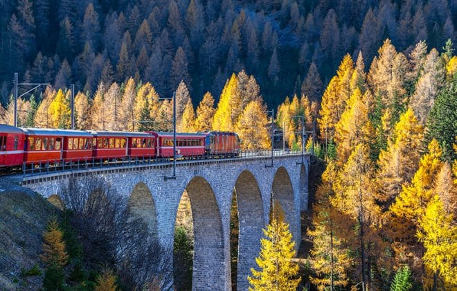 Trein Trips in Switserland