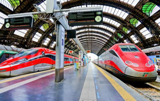 به Trenitalia است در میان کسانی که قطار در اروپا