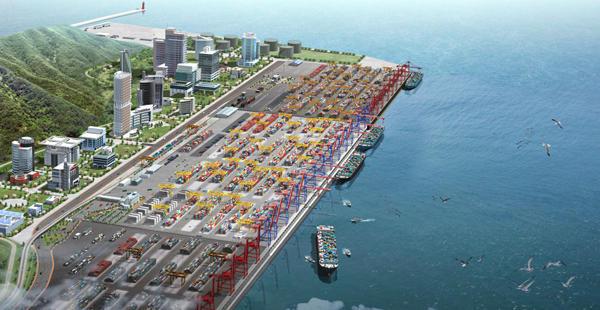 жаңа пойыз сілтеме ұтады АлАТ жаңа портының биіктіктен