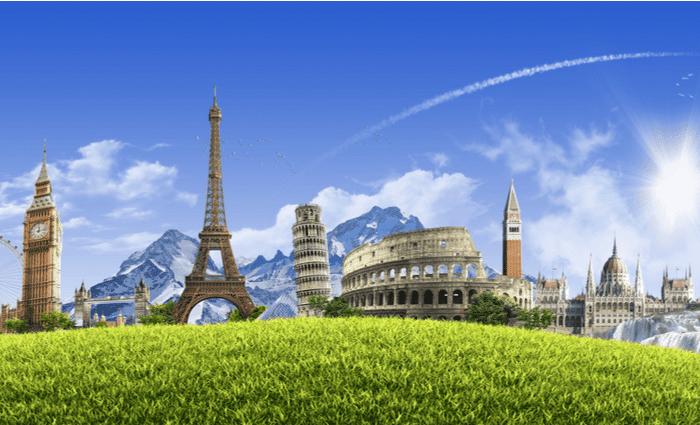 Evropski vlaka Tours Spomeniki