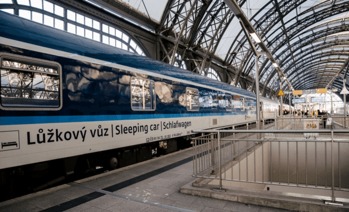 Train Traveling in Europe Overnight