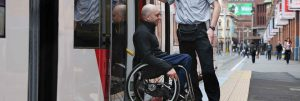 Traveling with a disability, how to board a train with a wheelchair