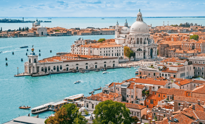 Venice is possible to train travel when you do Austria and Italy By Rail