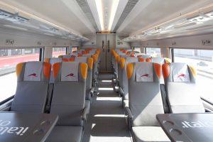 train versus bus, this is train seats
