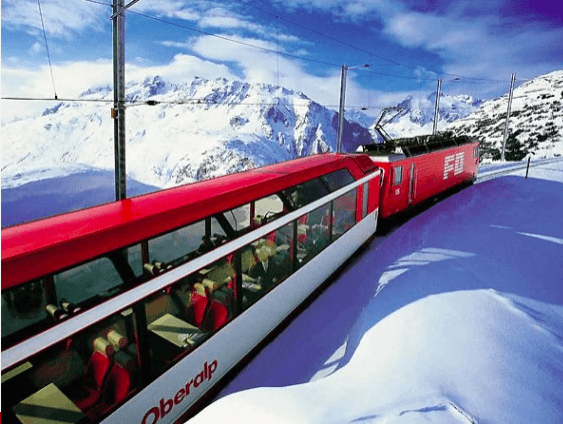 Train Routes to see the Winter snow in Europe 1