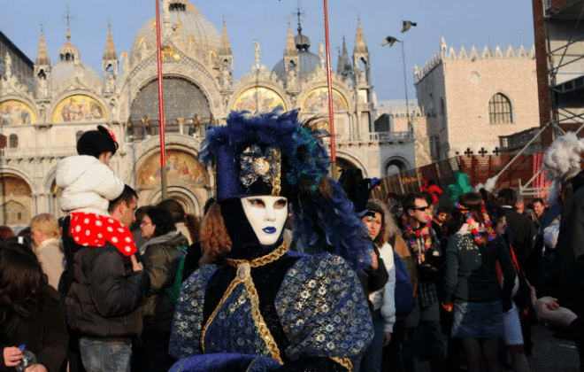 Costumes are part of the experience in Winter Festivals in Europe
