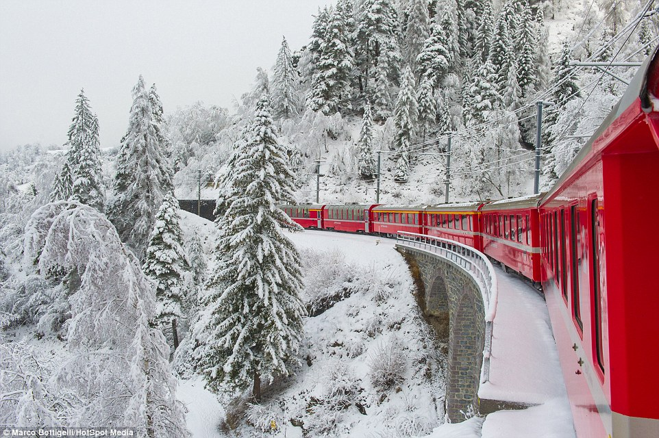 Train Routes to see the Winter snow in Europe 2