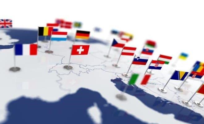 Reizgjen yn Europa op in Budget funksje ôfbylding
