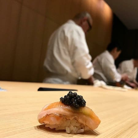 sushi in Best European restaurant MICHELIN