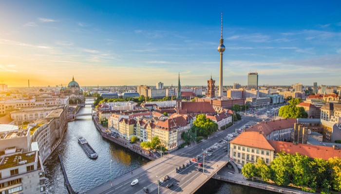 berlin skyline and towers