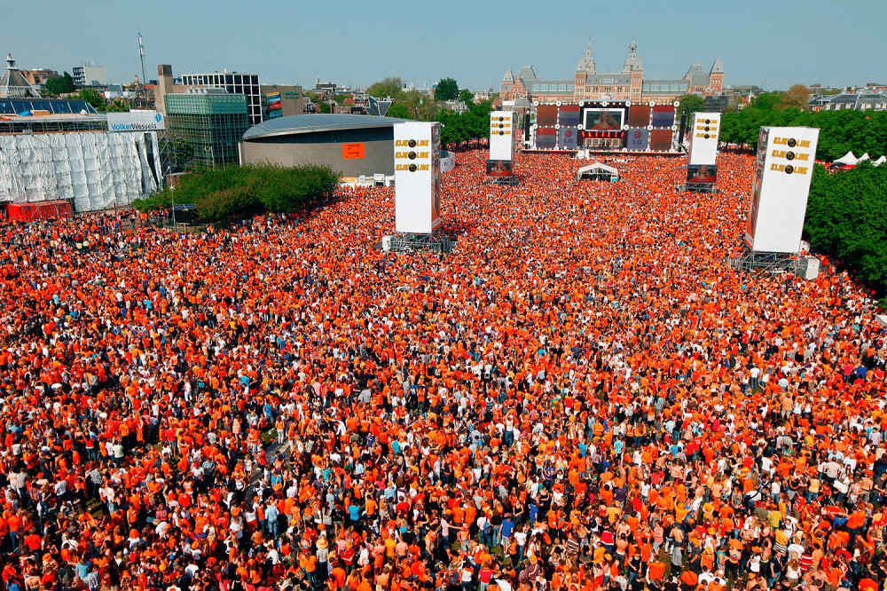 The gathering to Celebrating King's Day in the Netherlands