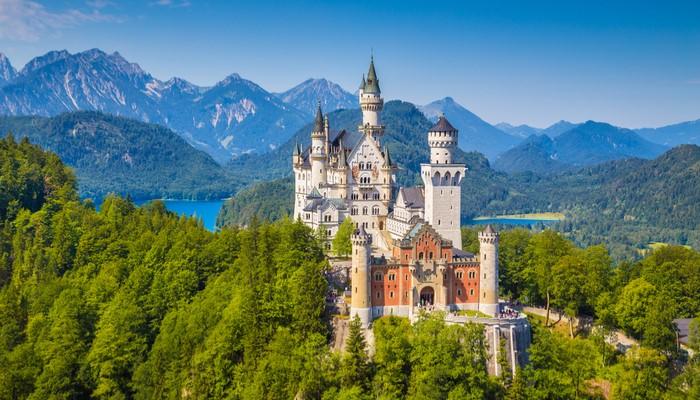 Įspūdingi pilys Vokietijoje dienoraščio nuotraukos