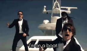 I am on a boat