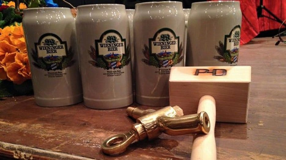 Munich Strong Beer Festival beer glasses