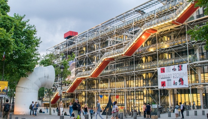 Pompidou in Paris is one of the Best Modern Art Galleries in Europe