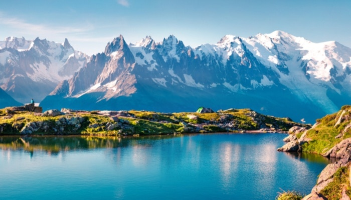 Mont Blanc France snow peaks
