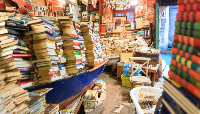 Libreria Acqua Alta is on the list of Charming Book Stores in Europe