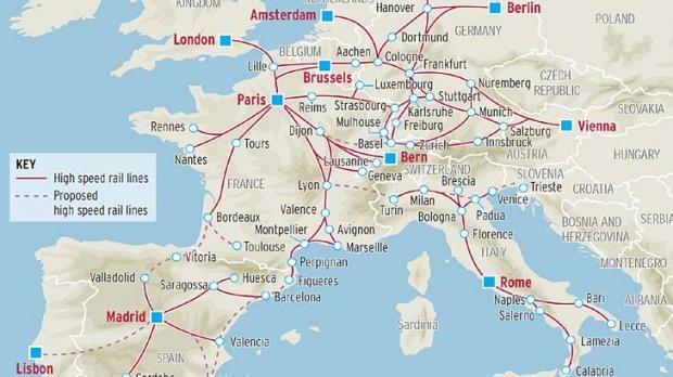трансъевропейская путешествия поезд