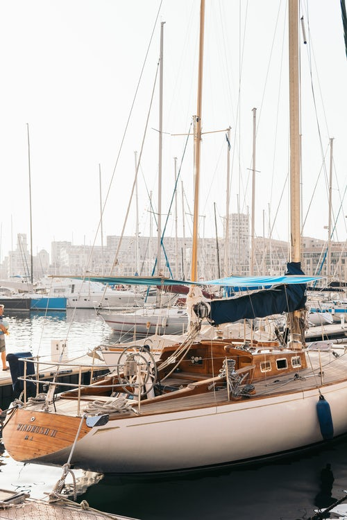 Boat in Marseilles haven