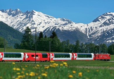 Bernina Express, Switzerland Train route