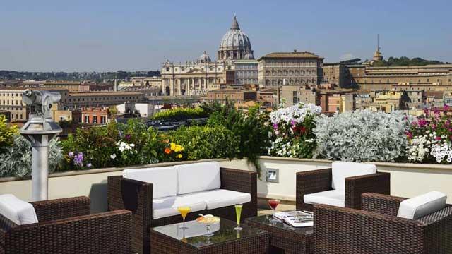 Atlanta Star Hotel view Rome Italy view