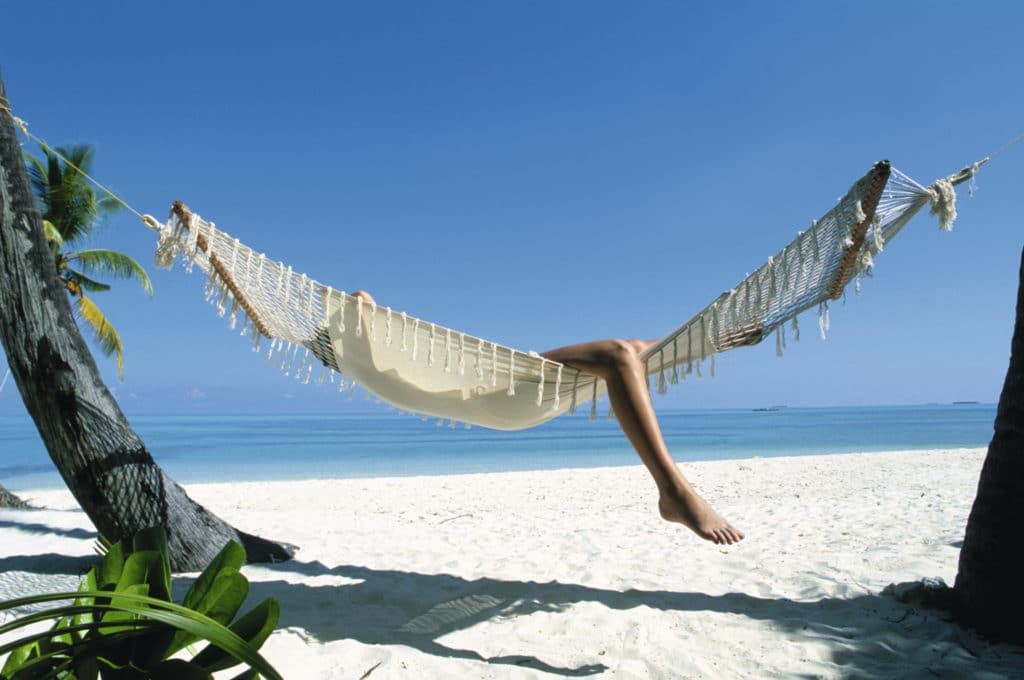 hammock lifestyle on the beach