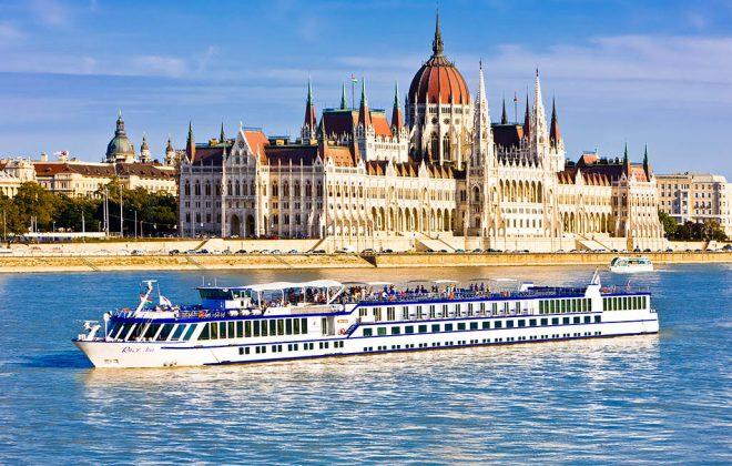 Belles rivières Europe et bateaux