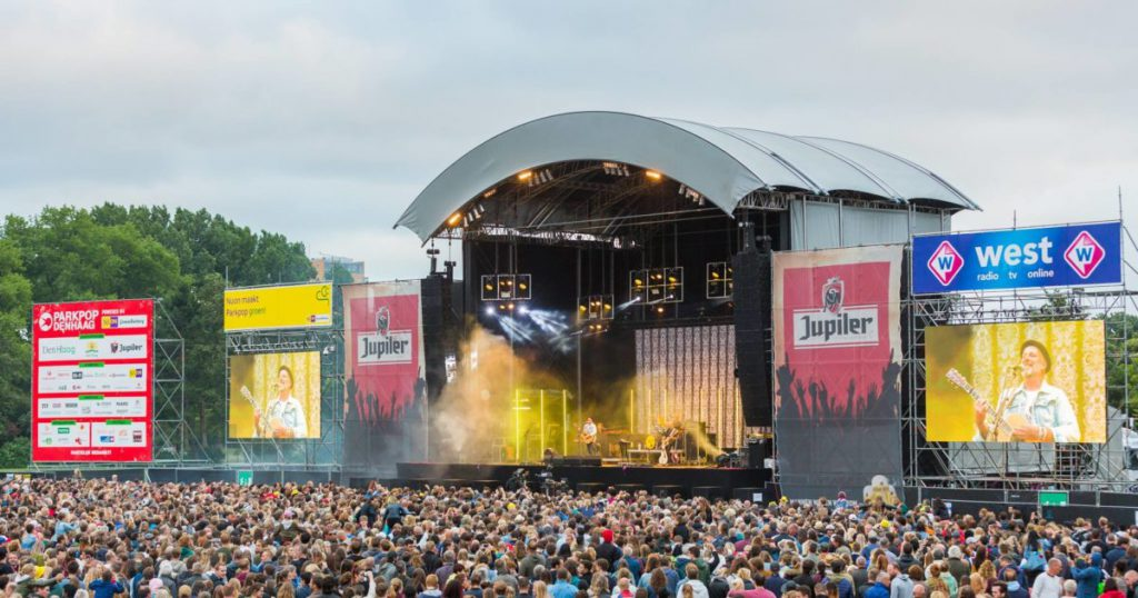 Parkpop event in the netherlands