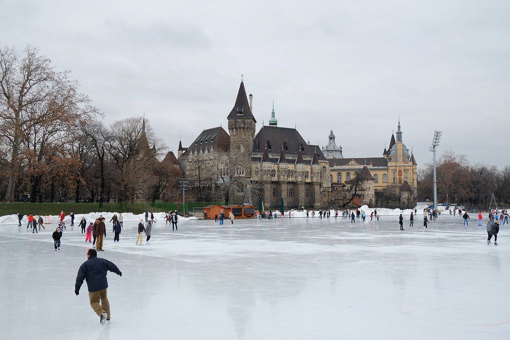 Budapest, Hungary ice skating