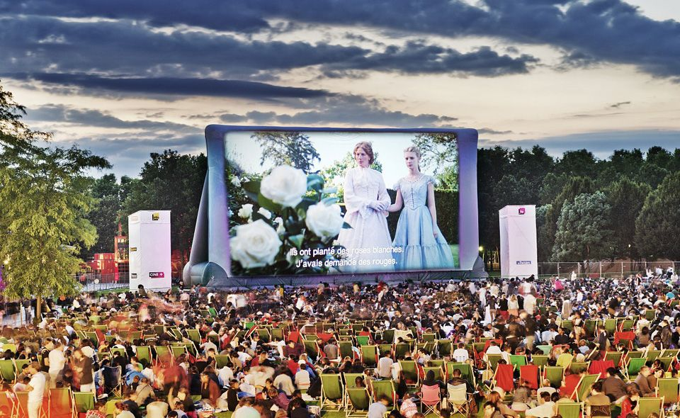 Open Air Cinema At The Parc de la Villette