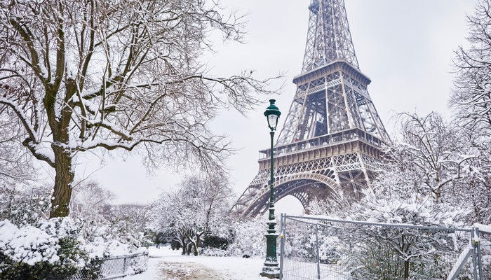 Paris, France in the winter